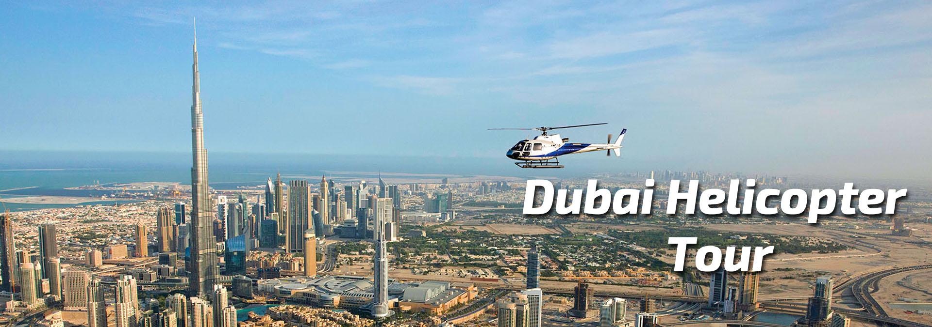 Helicopter Flight from The Palm to The BurjKhalifa